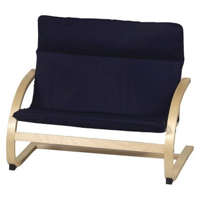 Guidecraft Kiddie Couch - Navy Blue/Natural