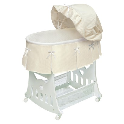 Badger Basket 2-in-1 Portable Bassinet with Toy Box Base - Ecru