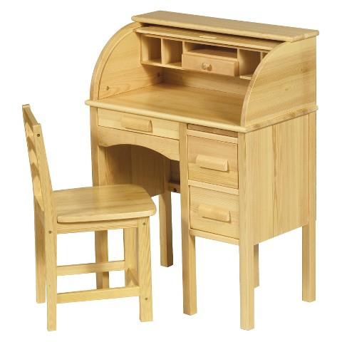 Guidecraft Kiddie Roll Top Desk - Oak