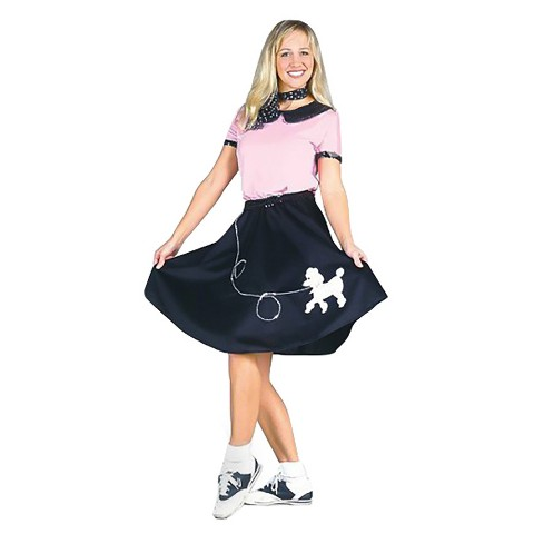 Women's 50's Hop with Poodle Skirt Costume