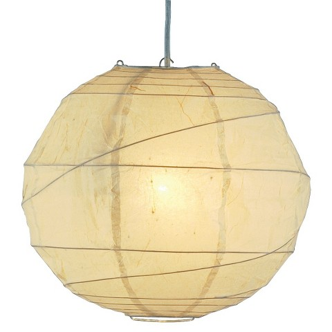 Orb Plug-In Pendant - Cream (Large)