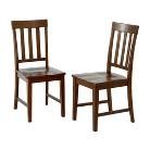 Teak Slat Back Chair - Set of 2