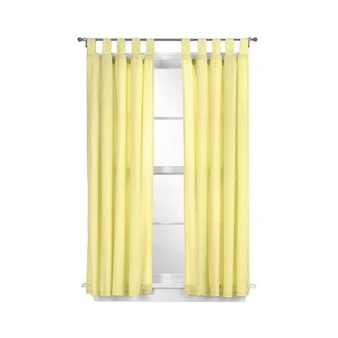 "Tadpoles Basic Solid Yellow 2-pc. Set -84"" Curtain Panels"