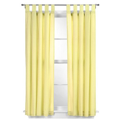 Tadpoles Basics Solid Yellow 2-pc. Set - 63  Curtain Panels