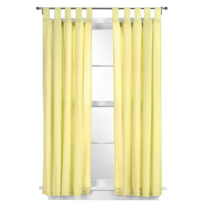 "Tadpoles Basic Solid Yellow 2-pc. Set -63"" Curtain Panels"