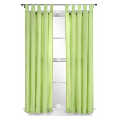 "Tadpoles Basic Solid Green 2-pc. Set -63"" Curtain Panels"