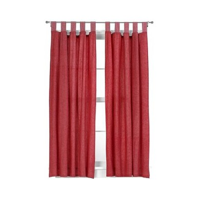 "Tadpoles Basic Solid Red 2-pc. Set – 84"" Curtain Panels"