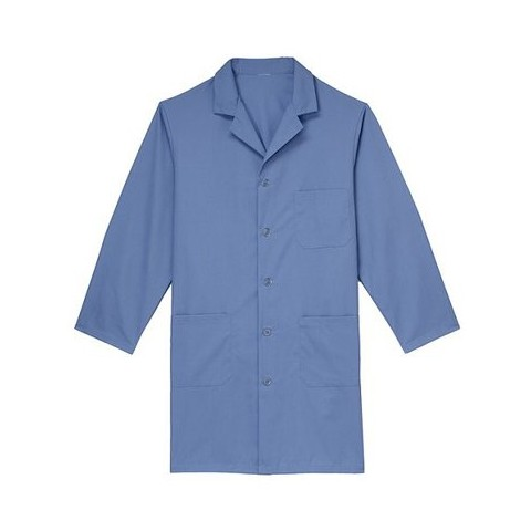Medline Unisex Knee Length Lab Coat - Light Blue