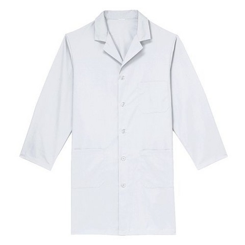 Medline Unisex Knee Length Lab Coat - White