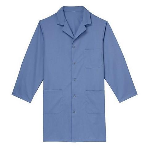 Medline Light Blue Unisex Knee Length Lab Coat