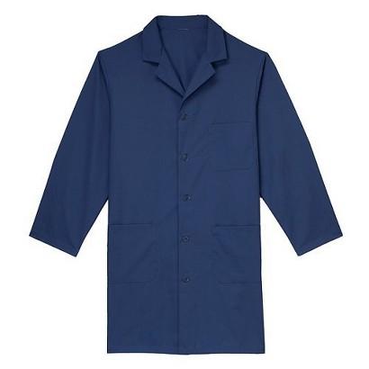 Medline Navy Blue Unisex Knee Length Lab Coat