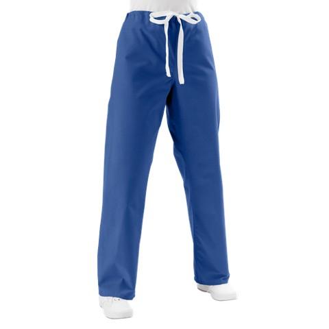 Medline Unisex Reversible Scrub Pants with Drawstring - Sapphire