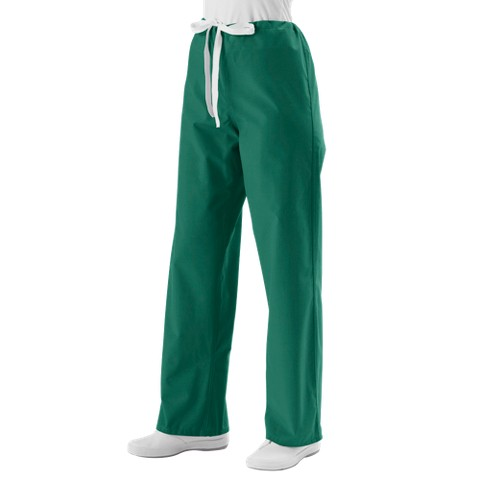 Medline Unisex Reversible Scrub Pants with Drawstring - Emerald