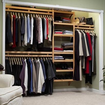 "John Louis Home Standard Shelving System for 6-10' Closets - Honey Maple (12D"")"