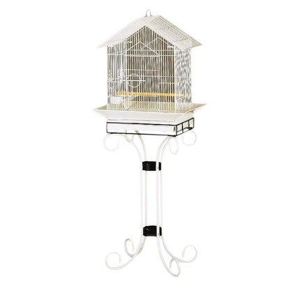 Prevue Pet Products House Style Cockatiel Floor Cage - Black & White