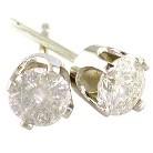 14K Gold 1/5 Carat Diamond Stud Earrings