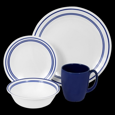 Corelle Livingware 16 Piece Dinnerware Set - Classic Café Blue