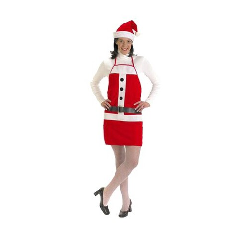 Women's Holiday Apron and Hat Set Costume