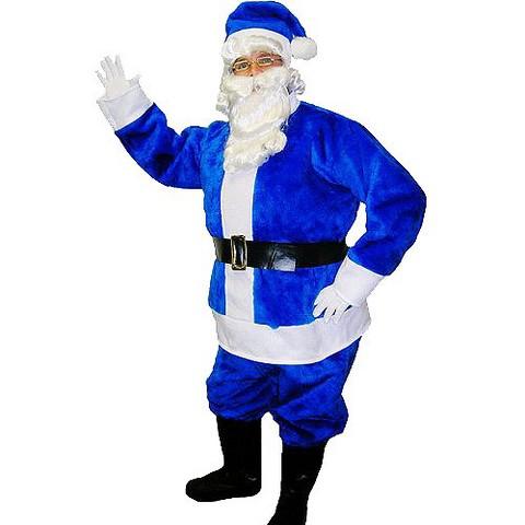 Men's Blue Santa Suit Costume