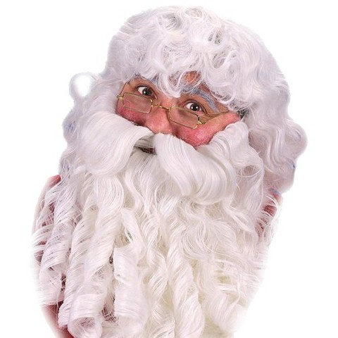 Adult Deluxe Santa Wig and Beard White