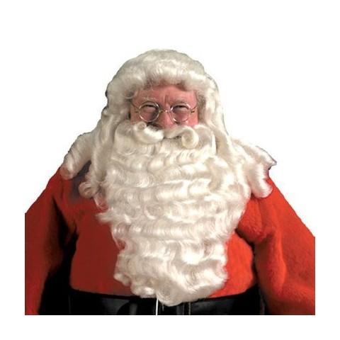 Men's Deluxe Santa Wig and Beard White