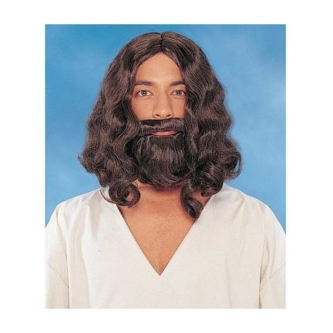 Biblical Wig and Beard - Brown