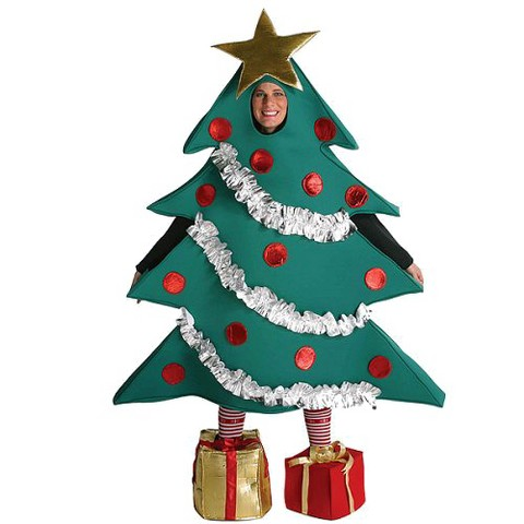 Adult Christmas Tree with Shoe Boxes Costume - One Size Fits Most