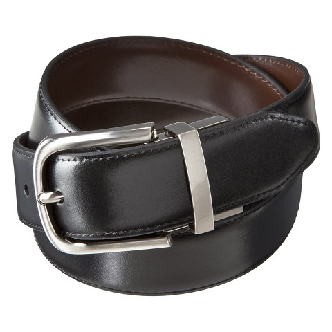Merona® Men's Belt - Reversible with Silver Buckle