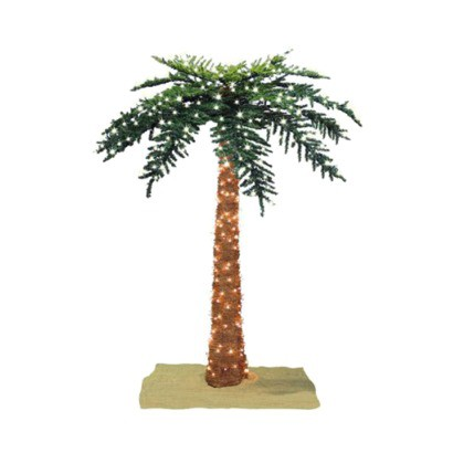 Lighted Royal Palm Tree - 6'