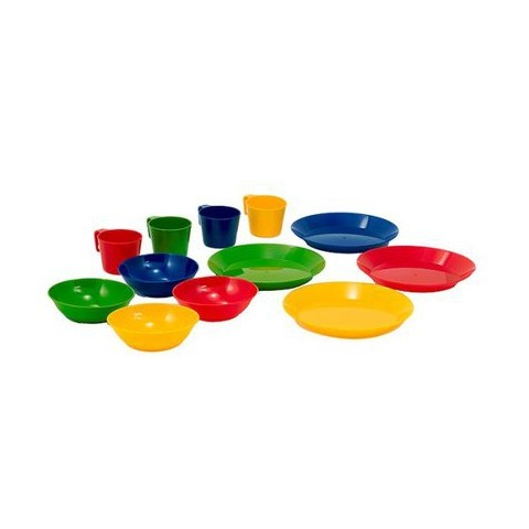 12-pc. Outdoor Tableware Set - Mixed Colors