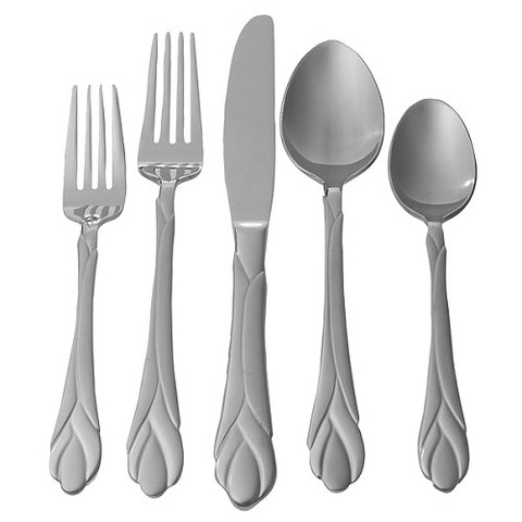 Hampton Forge Lily Frosted 20-pc. Flatware Set