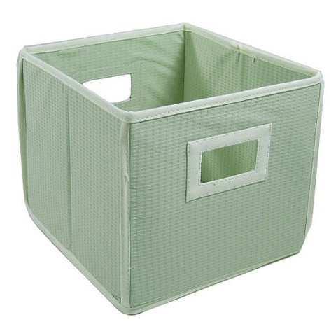 Badger Basket Company Textured Fabric Cube - Sage