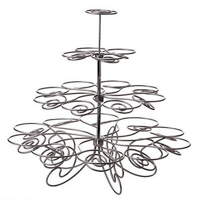 Wilton Cupcakes and More Stand - Silvertone (Holds 23)