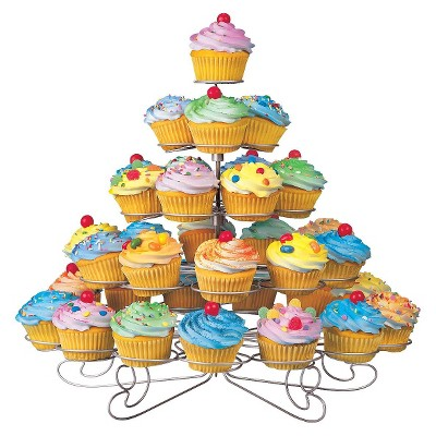 Wilton Cupcakes and More Stand - Silvertone (Holds 38)