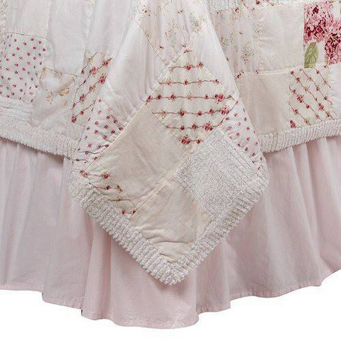 Simply Shabby Chic Bedskirt - Pink