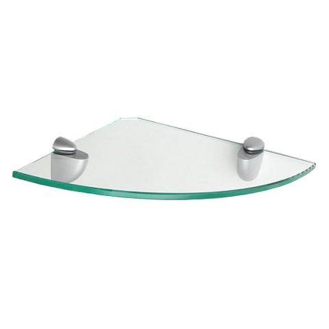 Clear Glass Corner Shelf with Brackets