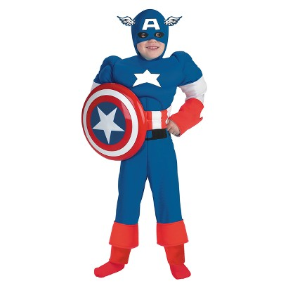 Boy's Captain America Muscle Costume