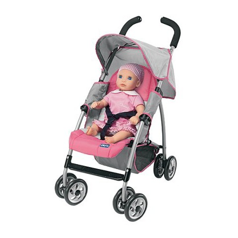 Chicco Toy Stroller - Pink/Gray