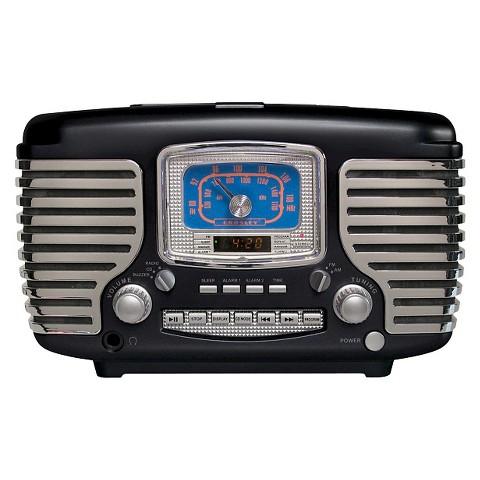 Crosley Corsair CD Player/Radio - Black (CR612-BK)