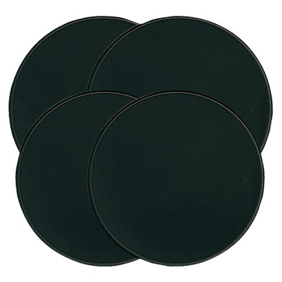 Round Burner Covers 4-pc. Set - Black