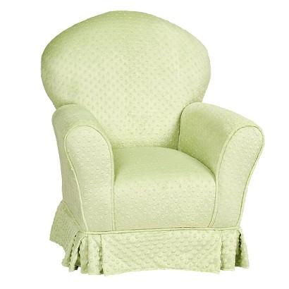 Little Castle Fuzzy Kid's Chair - Sage
