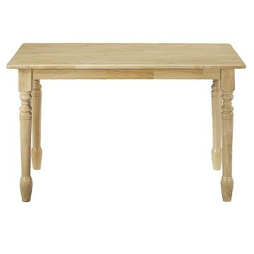 rectangle table natural whitewood