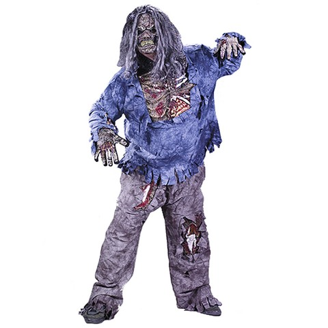 Men's Complete Zombie Costume - Plus Size