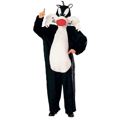 Adult Looney Tunes Sylvester the Cat Costume - One Size Fits Most