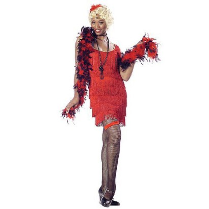 Women's Red Fashion Flapper Costume