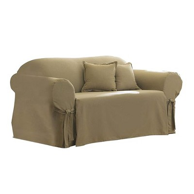 Sure Fit Cotton Duck Loveseat Slipcover - Linen