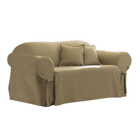 Sure Fit Cotton Duck Loveseat Slipcover