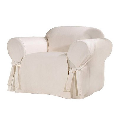 Sure Fit Cotton Duck Chair Slipcover - Natural