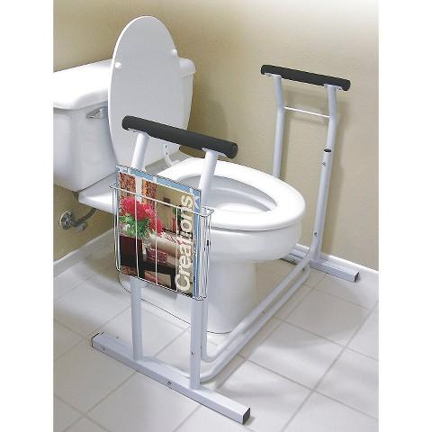Jobar International Deluxe Toilet Safety Support - White