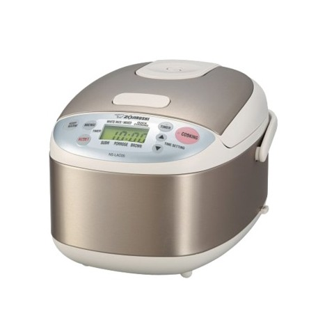 Zojirushi Micom  3 Cup Rice Cooker and Warmer -  Stainless Steel NSLAC05XA
